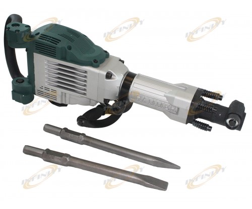 1800 Watt Electric Demolition Jack Hammer Concrete Breaker Punch W/2 Chisel Bits