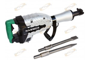 HD 1500W DEMOLITION BREAKER JACK HAMMER CONCRETE + SPADE SCOOPE SHOVEL