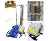 Stainless Submersible Deep Bore Well Water Pump 1.5HP110V 18GPM w/100FT Wire