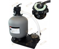 "OnGround 4500GPH 16"" Sand Filter with 1HP Above Ground Swimming Pool Pump System"