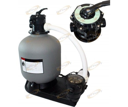 "19"" Sand Filter with 4500GPH 1HP Above Ground Swimming Pool Pump System"