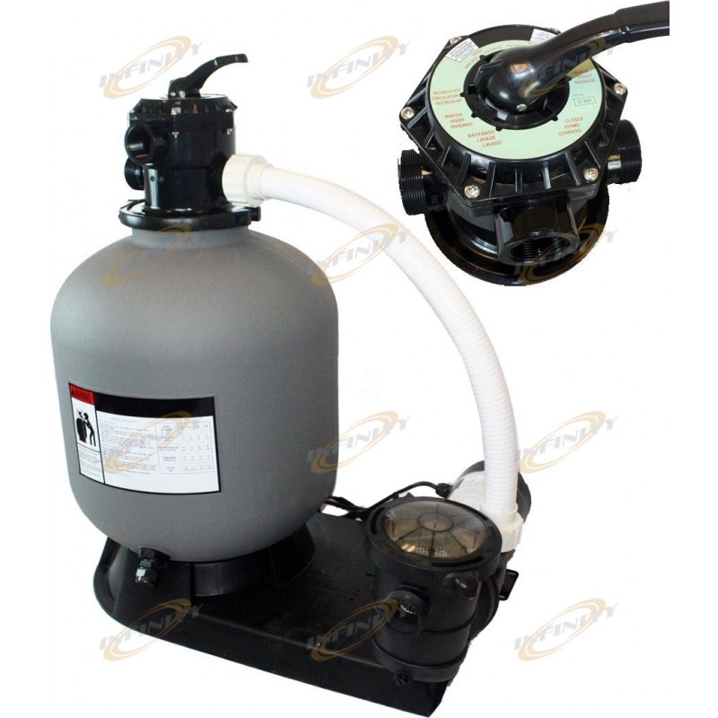 19 Sand Filter With 4500gph 1hp Above Ground Swimming Pool Pump System