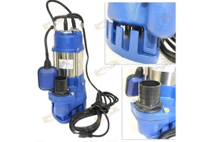 1HP Sewage Pump 1860GPH 110V Stainless Steel Submersible Pump Sump 30FT LIFT U30
