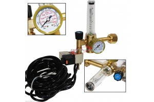 Hydroponics Flow Meter Control Exotic CO2 Injection System Regulator Grow Room