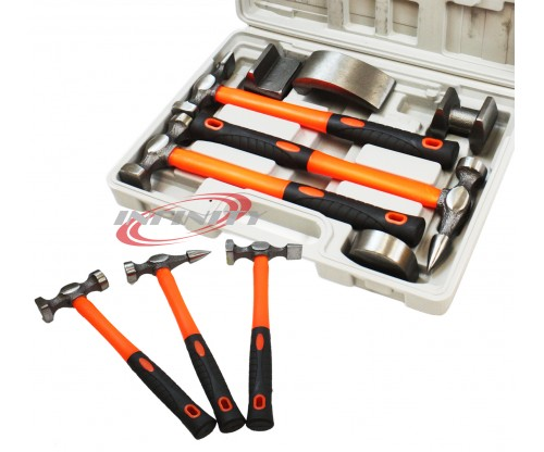 7PCS FENDER KIT HAMMER DOLLY AUTO BODY REPAIR TOOLS