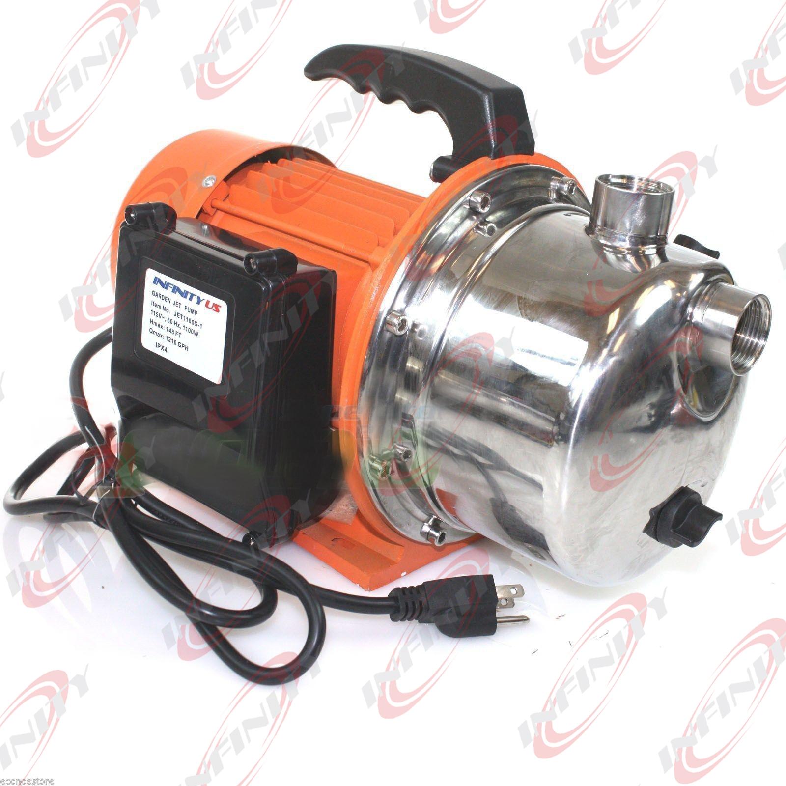 1.6HP Electric Pump Water Jet Garden Shallow Well Pressure 1600W