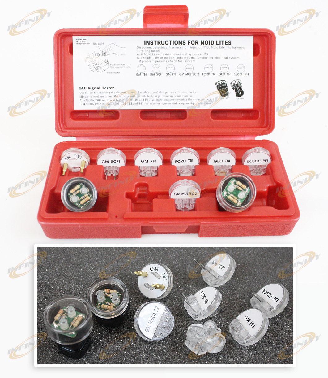 9 ELECTRONIC FUEL INJECTION NOID LITE SET SIGNAL TESTER