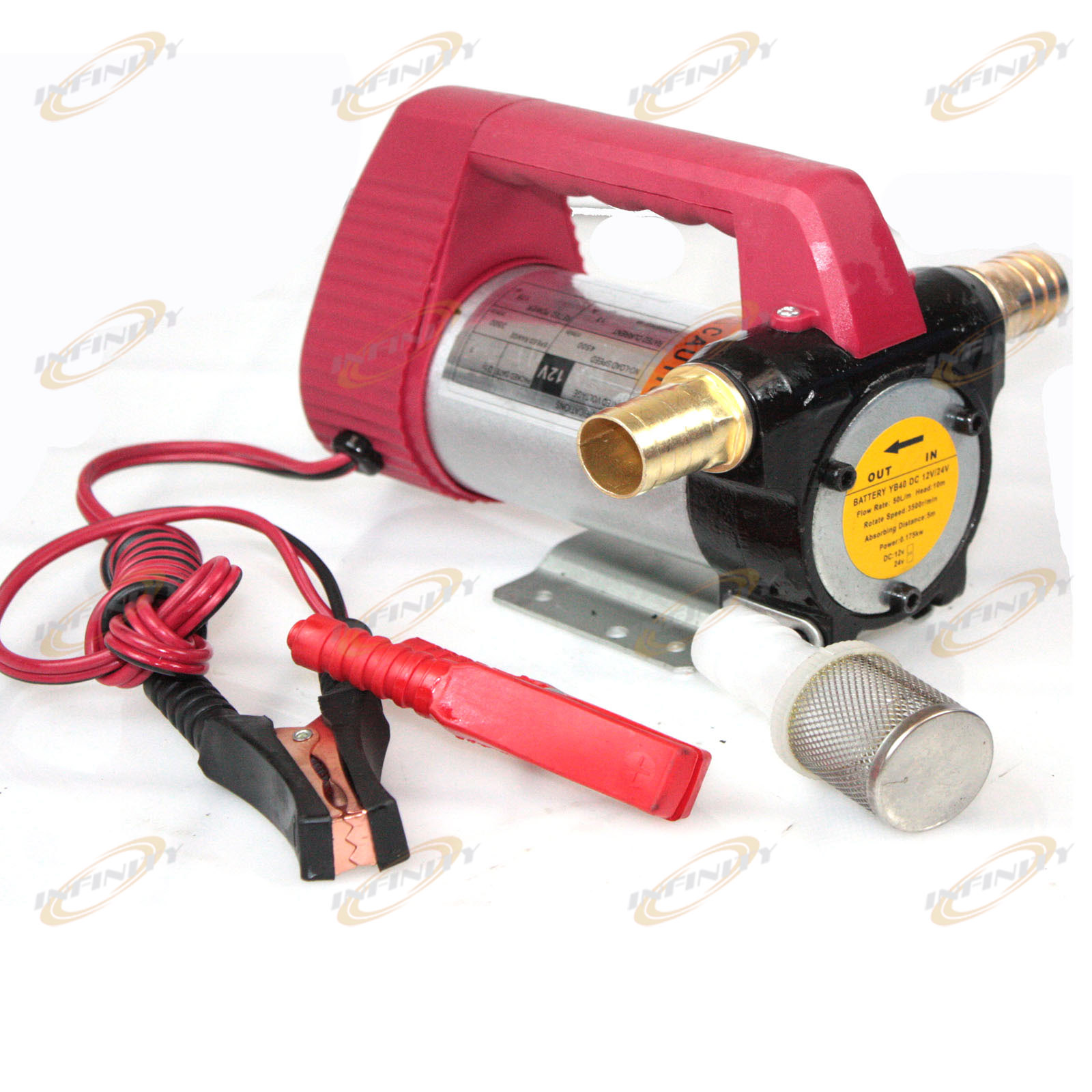 12v Diesel Cast Fuel Oil Transfer Pump 175w 11gpm Direct Biodiesel Filter Package 1set Of Two Brass Adapters 1 Gasket