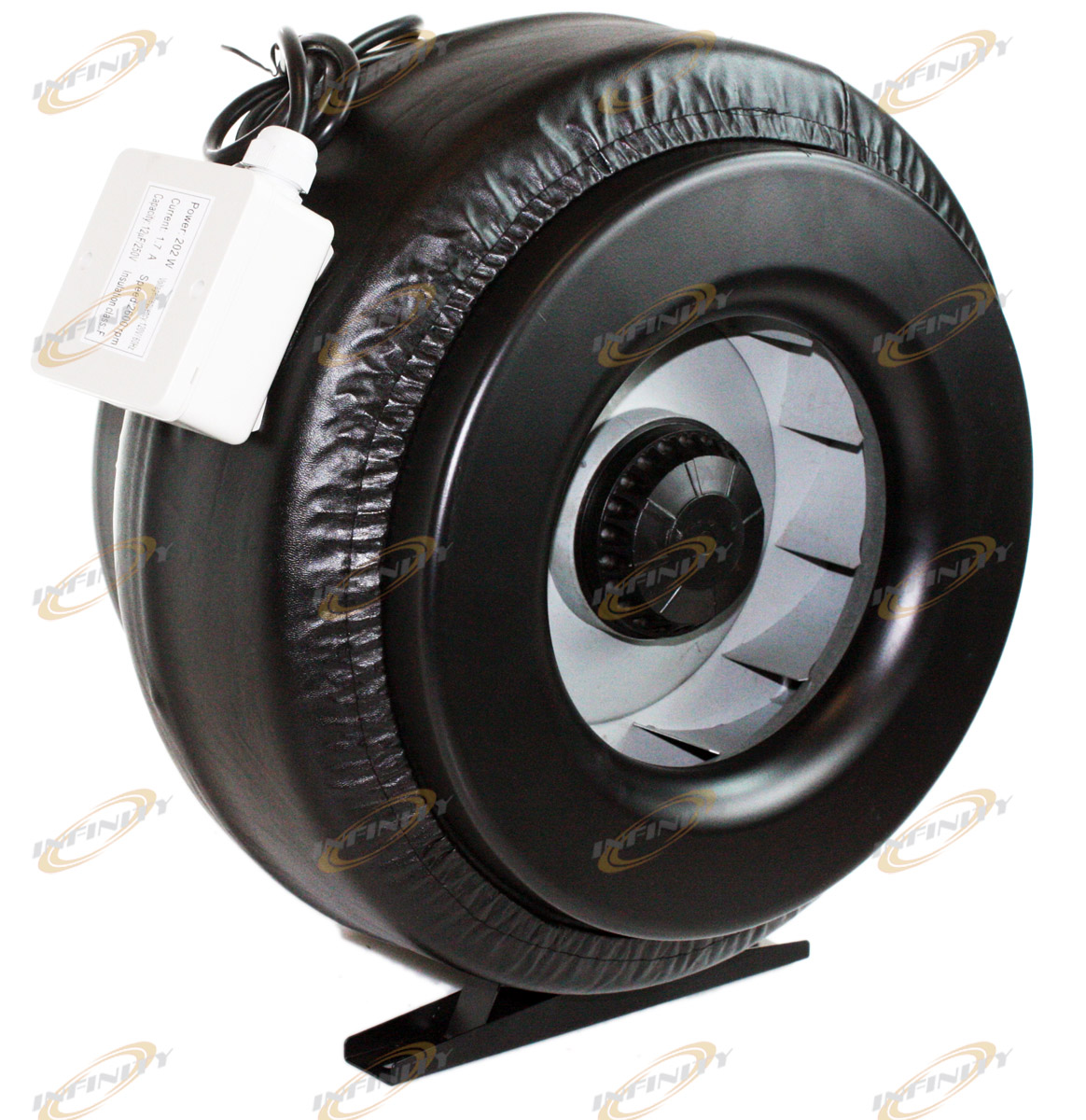 Inline Duct Fan Vent Exhaust Air Cooled Hydroponic Fan Blower 1200CFM #594E44