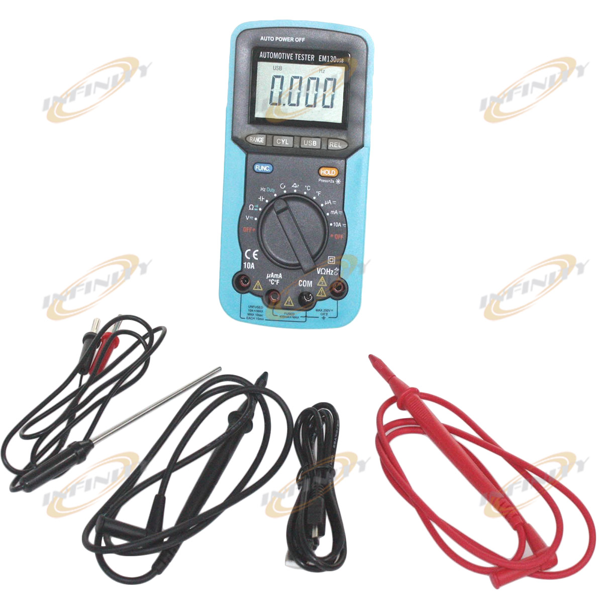 Search Auto Electrical Wiring Tester Handheld Digital Car Automotive Multimeter Volt Amp Ohm Temp Capacitance