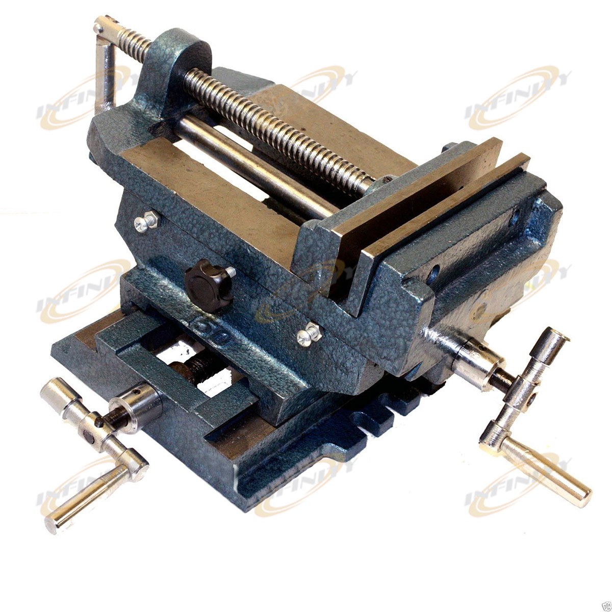 Drill Press Vise Cross Slide Metal Milling Clamp 2 Way HD Tools Adjustable Shims