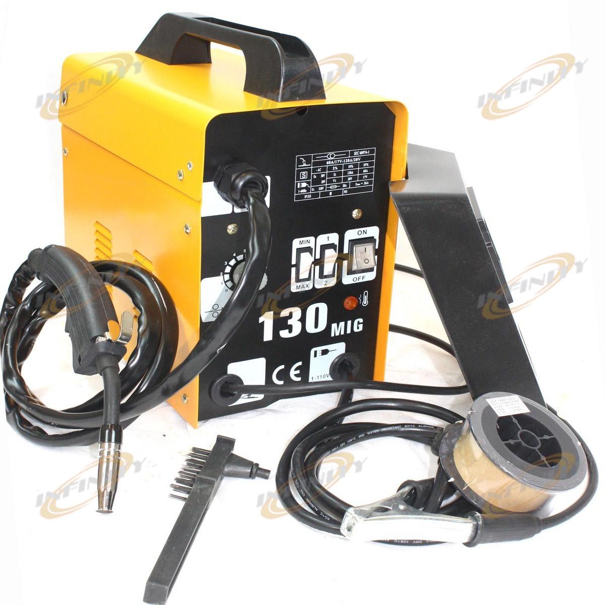 120amp Mig 130 220v Flux Core Welding Machine Welder Spool Wire Auto 110 Wiring Diagram Feed Fan