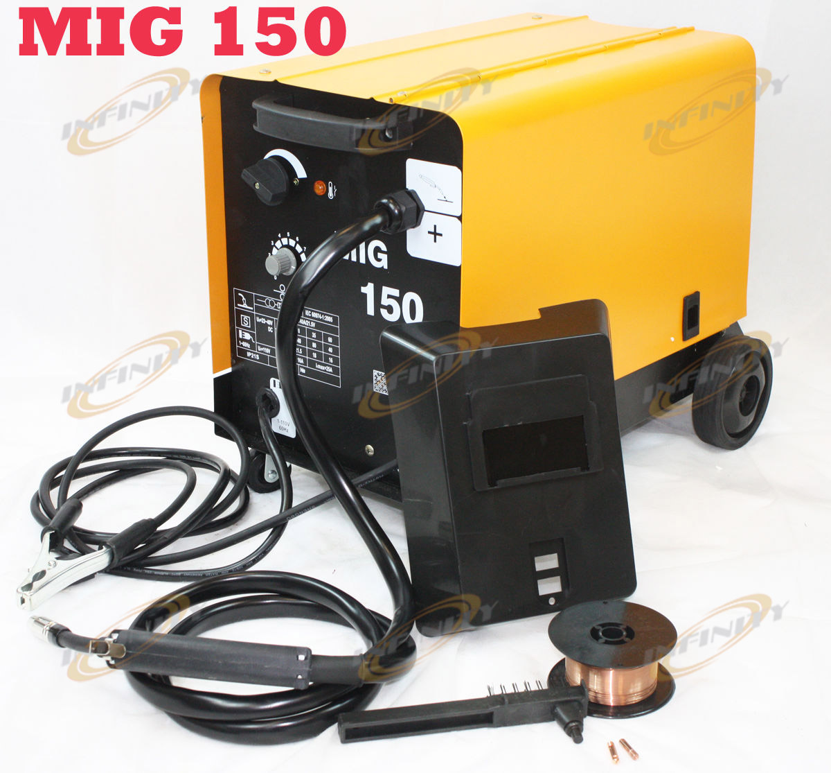 150amp Mig 150 110v Flux Core Welding Machine Gas No Welder Wire Parts Cored With Auto Feed