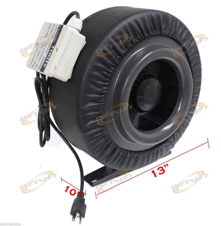 Inline 720CFM Hydroponics Duct Tube Exhaust Fan Blower 110V W  #C20909