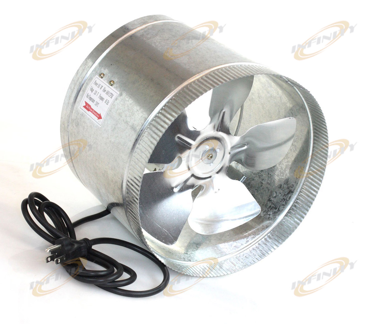 Air Vent Fans For Ducts : Quot in line duct fan cfm booster inline cool air
